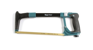 Hacksaw, rubberized handle