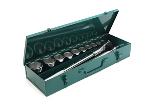 Socket wrench set, 15-piece, mm