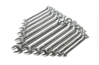 Combination wrench set, 8-19 mm, long