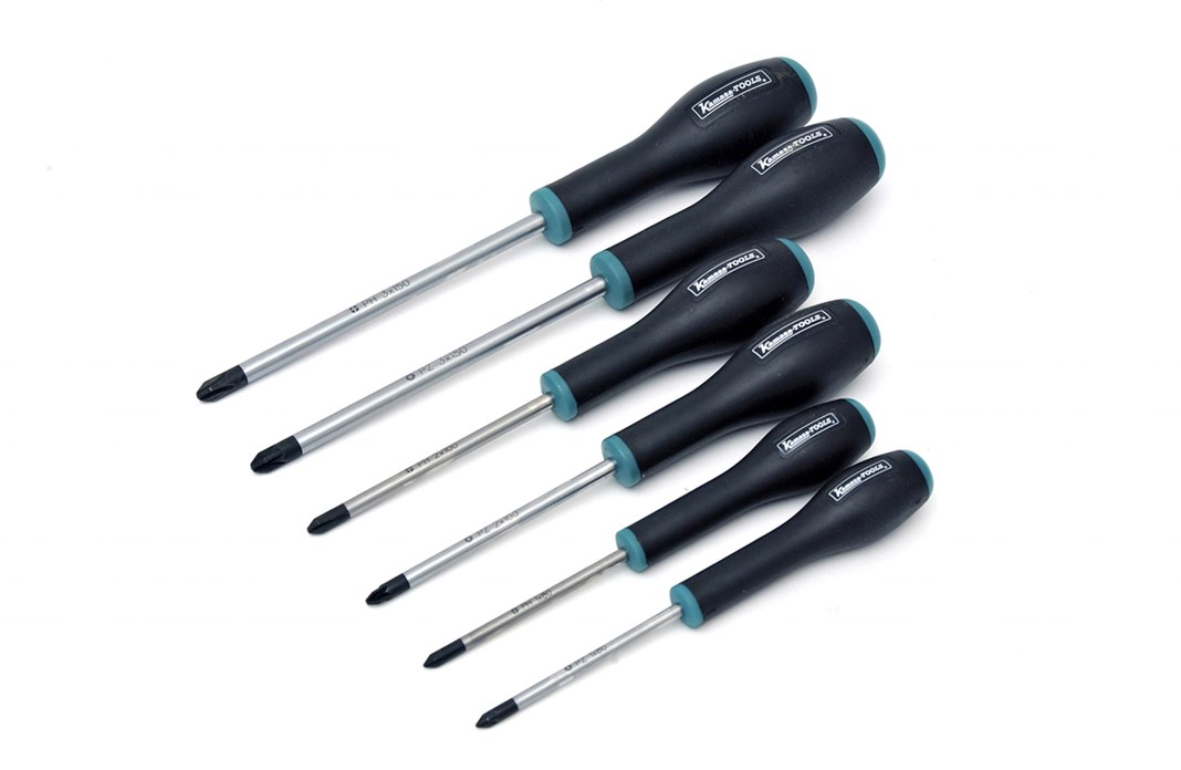 Screwdriver set PH and PZD, 6-piece
