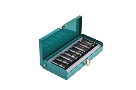Impact socket set, tapered cutting, mm