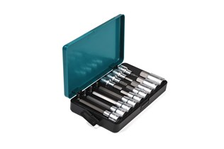 Socket bits set, Hex head, 17-piece