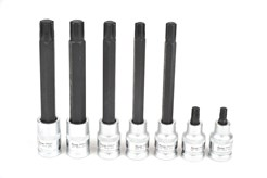 Bits sockets for engines and vehicles with RIBE bolts. For jobs on brake and engine bolts.