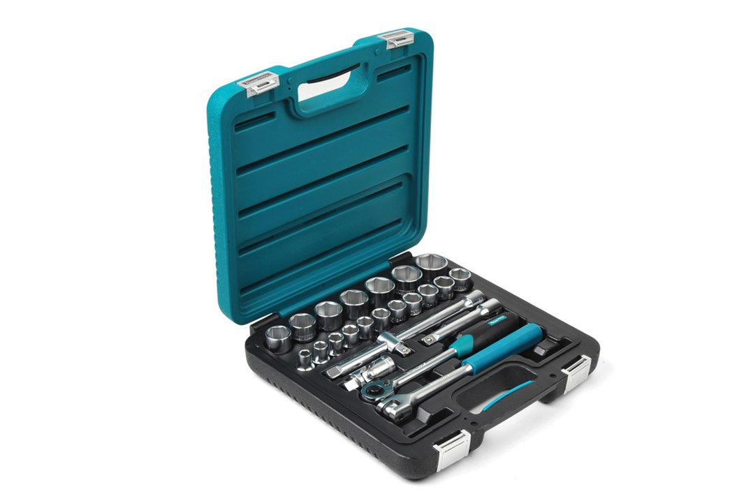 Socket wrench set, 24-piece, inch