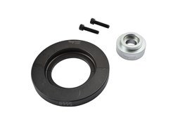 On many new cars, bearings and wheel hubs are assembled as a single unit. In these cases special tools are needed to avoid damaging the bearing.This set can be used to remove 66 mm diameter bearings. Used in combination with K 10347 basic set/ K 22508.
