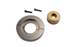 On many new cars, bearings and wheel hubs are assembled as a single unit. In these cases special tools are needed to avoid damaging the bearing.This set can be used to fit 66 mm diameter bearings. Used in combination with K 10347 basic set/ K 22508.