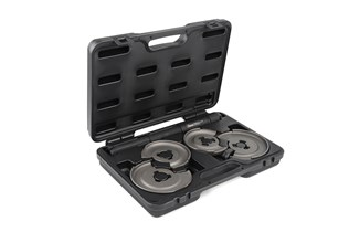 Spring compressor set for wishbone and multilink suspensions
