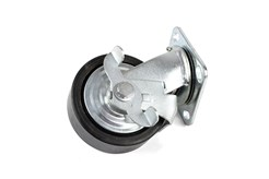 Wheel with brake, 127 mm, PU for K 10361 and K 10364