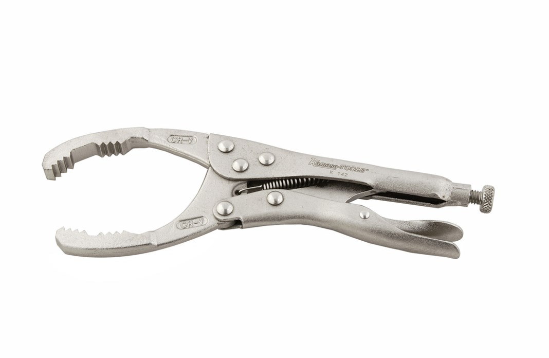Oil filter pliers, self-locking