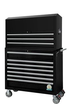 Tool trolley, 10 drawers, wide