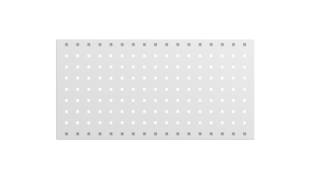 Perforated panel, 677 mm, grey