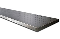 Stainless steel top for workbench.