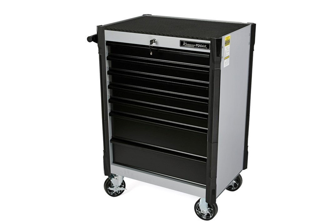 Tool trolley, 7 drawers, gray