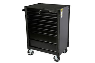 Tool trolley, 7 drawers, black