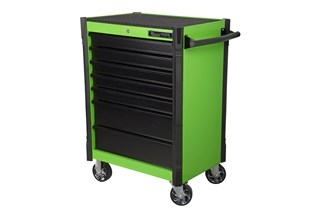 Tool trolley, 7 drawers, light green