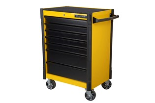 Tool trolley, 7 drawers, yellow