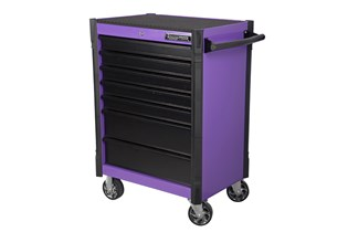 Tool trolley, 7 drawers, purple