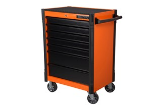 Tool trolley, 7 drawers, orange