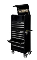 Tool trolley with top cabinet, narrow