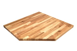 Worktop for corner cabinets, wood