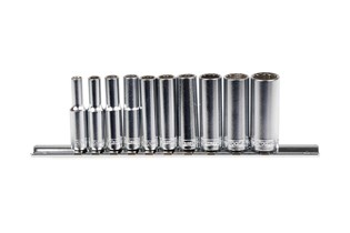 Socket set, long, mm, 13 piece