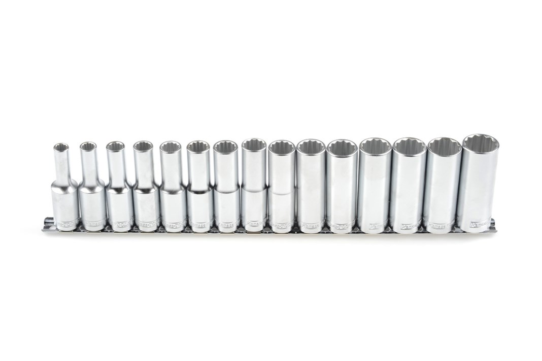 Socket set, long, mm, 15 pcs