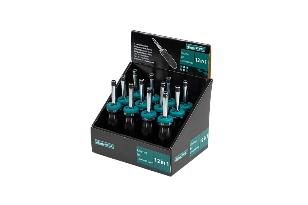 Ratchet bit screwdriver set, 12 pack