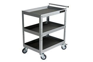 Shelf trolley, three shelves